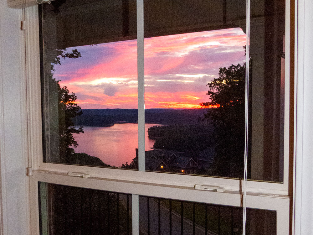 Lake Lanier home for sale sunset view