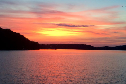 sunset on Lake Lanier