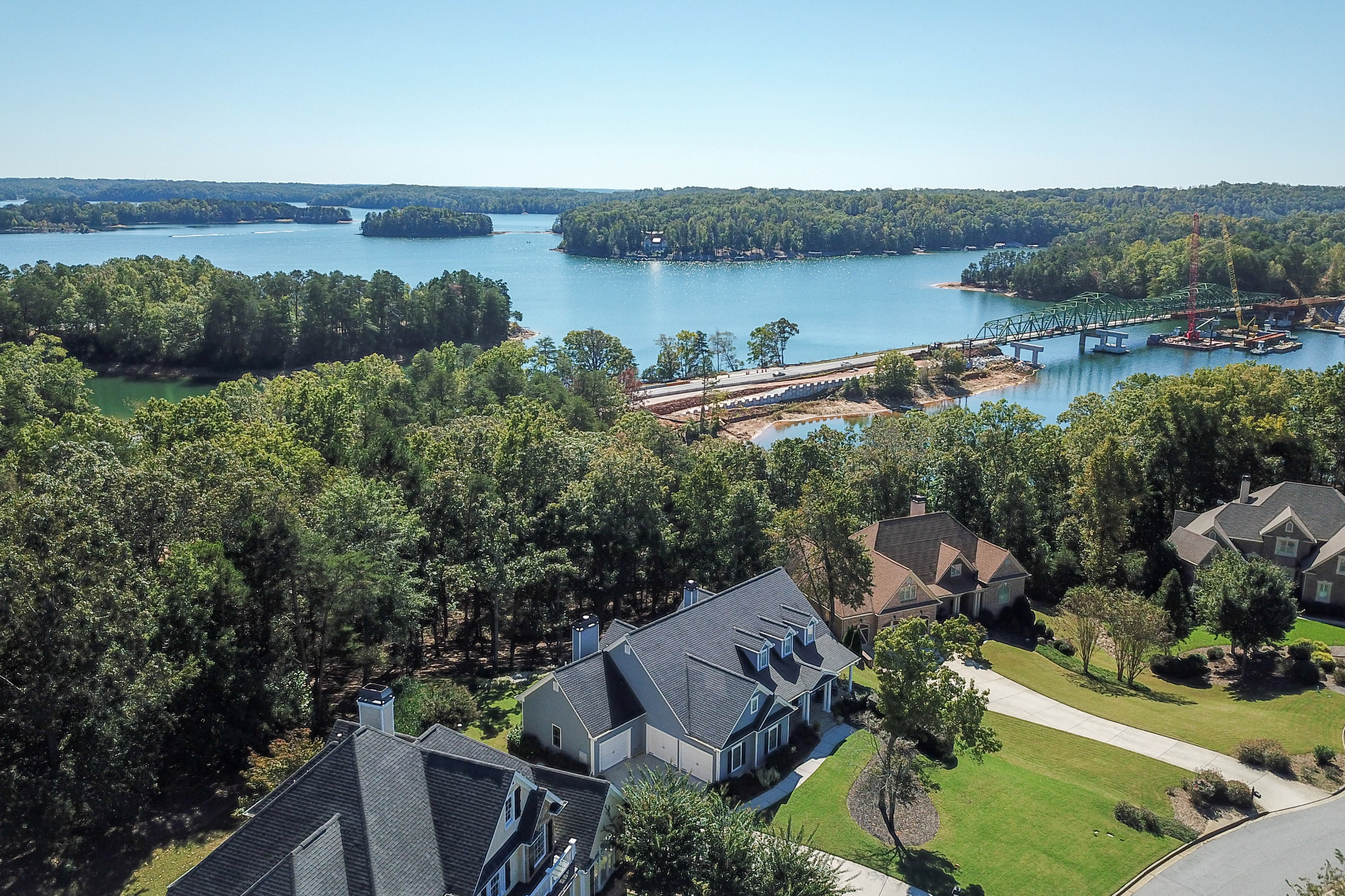 One level living with Lake Lanier Access and single slip covered dock option